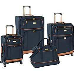 Tommy Bahama Mojito 4 Piece Spinner Luggage Set - Navy or Dark Brown