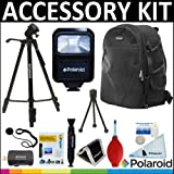 Deluxe Super Pro Starter Accessory Kit: Polaroid Tripod + Polaroid Camera BackPack + Polaroid Slave Flash + Cleaning & Accessory Kit For The Sony HDR-XR160, PJ10, MC50U, CX700V, CX560V, CX160, XR100, PJ580V, PJ30V, TD10, PJ50V, PJ200, CX200, CX260V, CX36