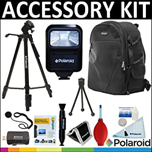 Deluxe Super Pro Starter Accessory Kit: Polaroid Tripod + Polaroid Camera BackPack + Polaroid Slave Flash + Cleaning & Accessory Kit For The Canon Digital EOS Rebel T4i (650D), T3 (1100D), T3i (600D), T1i (500D), T2i (550D), XSI (450D), XS (1000D), XTI (400D), XT (350D), 1D C, 60D, 60Da, 50D, 40D, 30D, 20D, 10D, 5D, 1D X, 1D, 5D Mark 2, 5D Mark 3, 7D, 6D, EOS M Digital SLR Cameras
