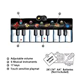 Childrens 2 in 1 Piano and Drum Kit Set with Drum Sticks MP3/CD Amplifier Electric Musical Playmat Toy Instrument by Happytime