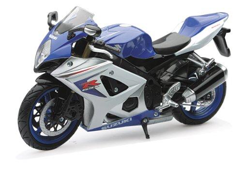 NewRay 1/12 Die-Cast Motorcycle: Suzuki 2008 GSX-R1000 (Blue) - 1