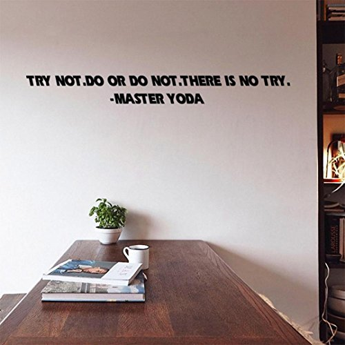 Wall Sticker, Hatop Try Not Do or Do Not there is no Try Removable Vinyl Wall Decal Home Décor