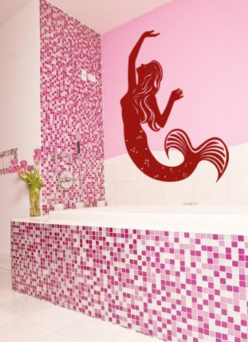 Housewares Wall Vinyl Decal Fairy Girl Mermaid Home Bathroom Interior Home Art Decor Kids Nursery Removable Stylish Sticker Mural Unique Design For Any Room front-152962