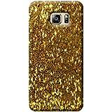 Tecozo Designer Printed Back Cover For Samsung Galaxy S6 Edge, Samsung Galaxy S6 Edge Back Cover, Hard Case For Samsung Galaxy S6 Edge, Case Cover For Samsung Galaxy S6 Edge, (Golden Sparkle (Shimmer Case ) Design,Pattern)