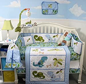 Amazon.com : SoHo Dinosaur Baby Crib Nursery Bedding Set 14 pcs : Baby