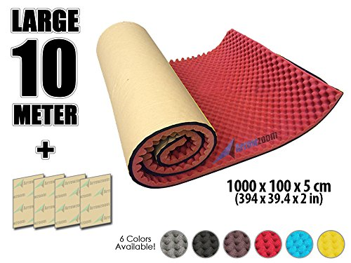 arrowzoom-new-1-pack-of-10-meter-394-x-394-x-2-inches-soundproofing-insulation-adhesive-egg-crate-ro