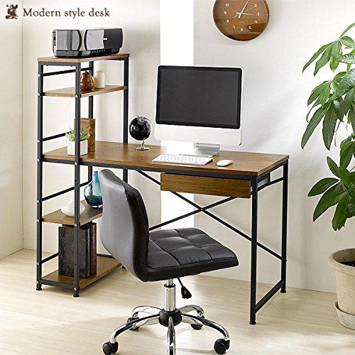 ラック一体型デスク 幅120 (デスク 机 つくえ ワークデスク ラック 棚 SOHO おしゃれ desk) アウトレット