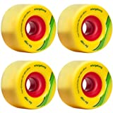 Orangatang Cage 73mm 86a Yellow Longboard Skateboard Wheels Set of 4 New by Orangatang