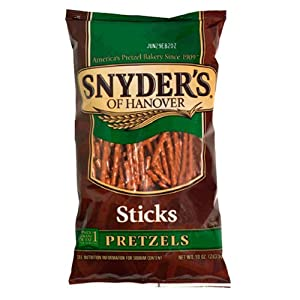Snyder's of Hanover Pretzel Sticks, 10-Ounce Packages (Pack of 12)