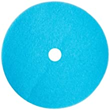 "Glit 29757 TK Polyester Blend Blue Ice Burnishing Floor Pad with 3-1/4"" Center Hole, Synthetic Blend Resin, Kaolin Grit, 1000 to 3000 rpm, 27"" Diameter (Case of 2)"