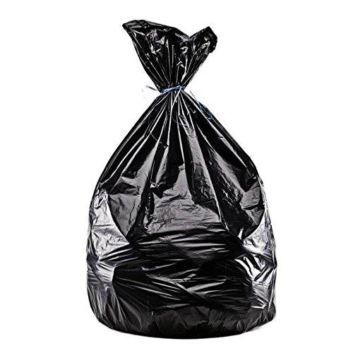 Mondiasac - Sacs poubelles noirs 330L/35 microns (100 sacs)