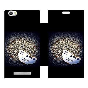 Skintice Designer Flip Cover with Vinyl wrap-around for Lava Iris X10 , Design - Love Note