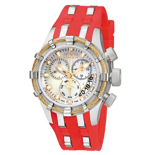 Invicta Womens 6946 Reserve Collection Bolt Chronograph Red Polyurethane Watch