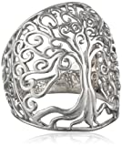Sajen Sterling Silver Polished Dome Tree of Life Ring