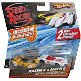 Hot Wheels Speed Racer Movie Moments - Speed Racer Racer X vs. Mach 5 Casa Cristo 5000 Maltese Ice Caves