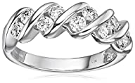 14k White Gold Diamond Channel S Anniversary Ring (1cttw, H-I Color, I1-I2 Clarity)