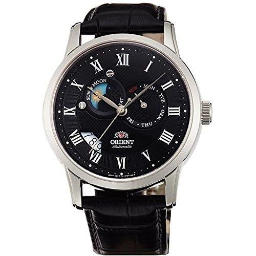 Orient FET0T002B0 42.5mm Automatic Stainless Steel Case Black Calfskin Synthetic Sapphire Men's Watch