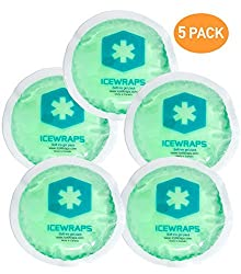 Round Reusable Gel Ice Packs With Cloth Backing - Great For: Wisdom Teeth, Breastfeeding, Tired Eyes, Kids Injuries, Headaches, Sinus Relief And More. Use As Hot Or Cold Packs (Green - 5 Pack)