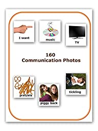 (FREE SHIPPING) 160 Laminated Photos for Autism Communication (compatible with PECS picture exchange communication system) and ABA