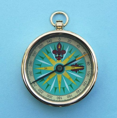 Solid Brass 2-inch Open Faced Pocket Compass