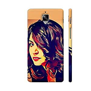 Colorpur Anushka Sharma Artwork On OnePlus 3 Cover (Designer Mobile Back Case) | Artist: Divakar Vikramjeet Singh