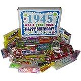 70th Birthday Gift Basket Box 1945 Retro Nostalgic Candy