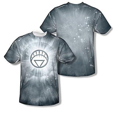 Green Lantern White Energy All Over Front/Back T-Shirt