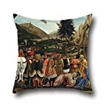 Pillowcover Of Oil Painting Domenico Veneziano - The Adoration Of The Magi,for Home Office,club,kids Girls,boys,her,car Seat 18 X 18 Inches / 45 By 45 Cm(double Sides)