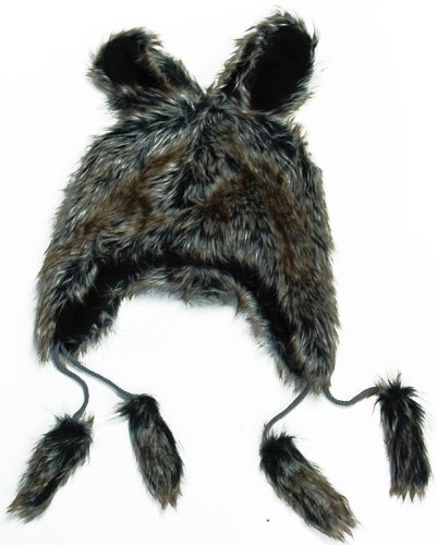 Faux Fur Brown Bunny Adult Costume Hat