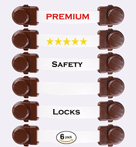 Premium-Child-Safety-Locks-For-Baby-Proofing-Cabinets-Drawers-Appliances-Fridge-Oven-Toilet-Seat-Trash-Can-Dishwasher-Double-Lock-Quick-Release-Buckles-System-6-Pack-by-Chunga-Chonga