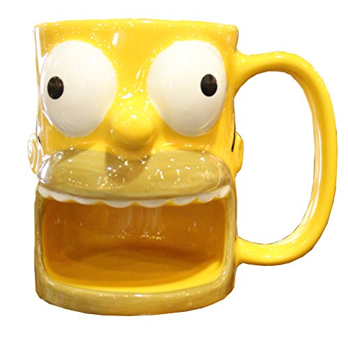 Homer Simpson Mug With Biscuit Holder - HURRY UP else Eat My Jeans!