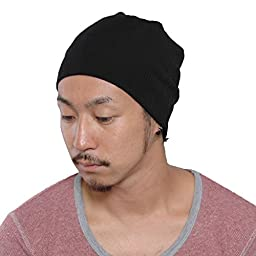 CasualBox Mens Cool Sports Beanie Hat Unisex knit cap Style Fast drying Black