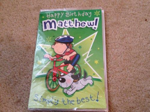 Happy Birthday Matthew - Singing Birthday Card - 1