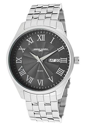Jorg Gray JG1760-13 - Reloj analógico de cuarzo para hombre con correa de acero inoxidable, color negro