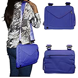 DMG Padwa Lifestyle Shockproof Soft Sleeve Pouch Carrying Envelope Bag canvas Case with Handle and Shoulder Strap for Asus TF103CG Transformer Pad Netbook (Blue)