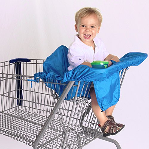 buy Compact Shopping Cart & High Chair Cover by Cossettie - 3 color options - lightweight ripstop nylon, portable, travel for sale