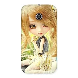 Premium Cute Smiling Doll Multicolor Back Case Cover for Moto E