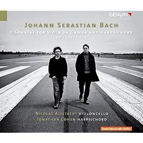 Bach: 3 Sonatas for Viola da Gamba & Harpsichord