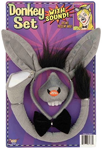 Forum Novelties Animal Costume Set Donkey Nose Tail with Sound Effects - 1