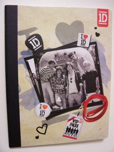 "One Direction (1D) Composition Book ~ Concert Tour Vip Access (7.5"" X 9.75""; 80 Sheets, 160 Pages)"