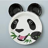 FBAPT368 紙皿12枚入 パンダ・ライオン・ゾウ
