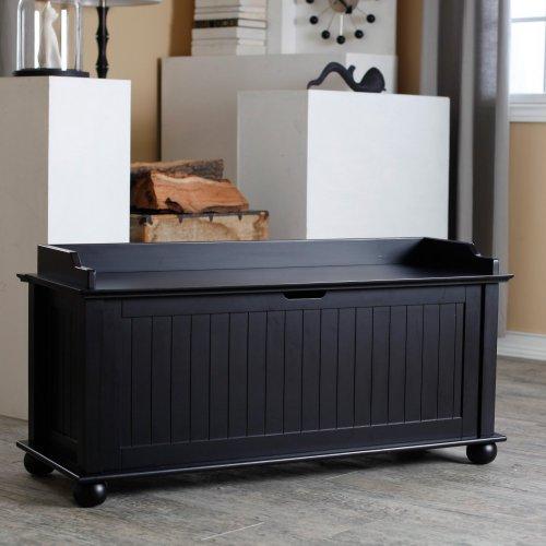 Belham Living Belham Living Morgan Traditional Flip Top Storage Bench -, Black, Wood