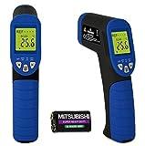 MEESONIC 温度計 非接触 赤外線 放射 デジタル 調理用 レーザーポイント バックライト機能 日英取説 電池付き 【-50~+380℃計測可】