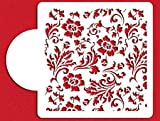 Chic Rose Cake Top Cupcake Stencil Flexible Plastic Craft Stencil (6 inch)