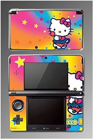 Cute Kitty Hearts Pink Rainbow Sticker Lollipop Game Vinyl Decal Cover Skin Protector #10 for Nintendo 3DS