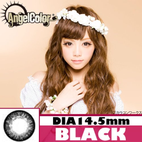 【カラコン エンジェルカラー/AngelColor】スターミッシュシリーズ 【PWR】±0.00 (ブラック)