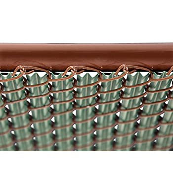 4ft Green Ridged Slats for Chain Link Fence