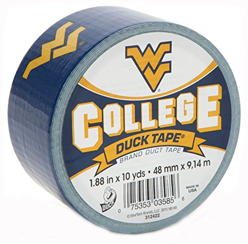 Duck Brand 240289 West Virginia University College Logo Duct Tape, 1.88-Inch by 10 Yards, Single (Stores In West Virginia)