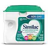 Similac For Supplementation Non-GMO Infant Formula with Iron, Powder, 23.2 Ounces (Pack of 4)
