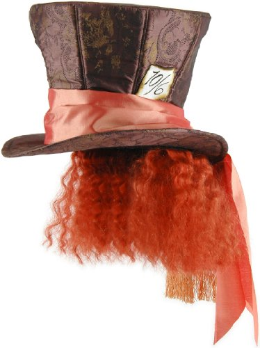 The Mad Hatter Hat With Hair Alice In Wonderland Johnny Depp Movie Disney